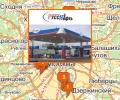 Сеть автозаправочных станций Русснефть в Москве