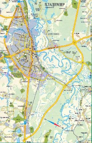 Транспортный план-карта г.Владимир, схема транзитного проезда.
