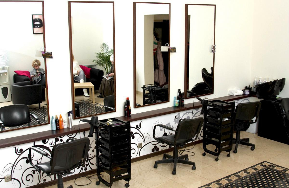 Дизайн парикмахерский зал