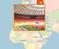 Где находятся стадионы в Москве?